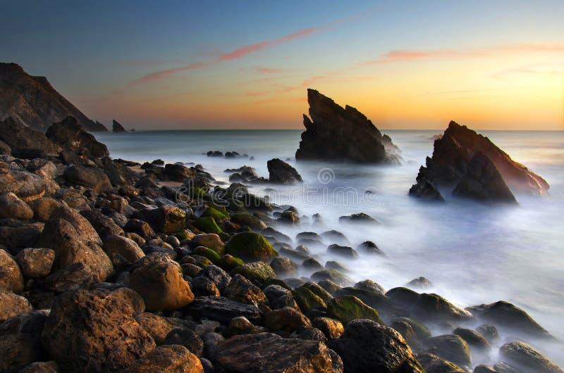 adraga plaża zdjęcie royalty free