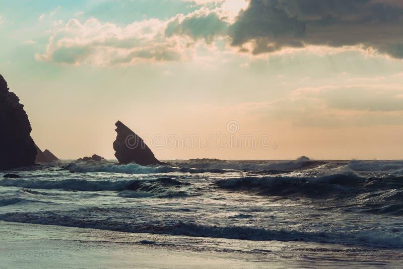 Adraga strand arkivfoton