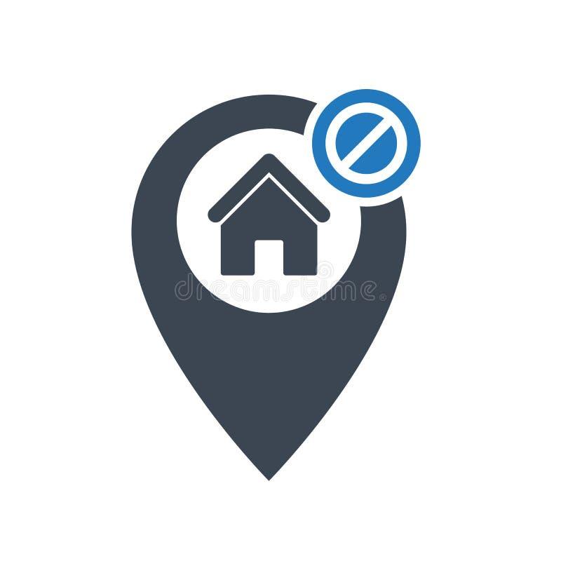 Adreßikone mit nicht erlaubtem Zeichen Die Adreßikone und -block, verboten, verbieten Symbol vektor abbildung