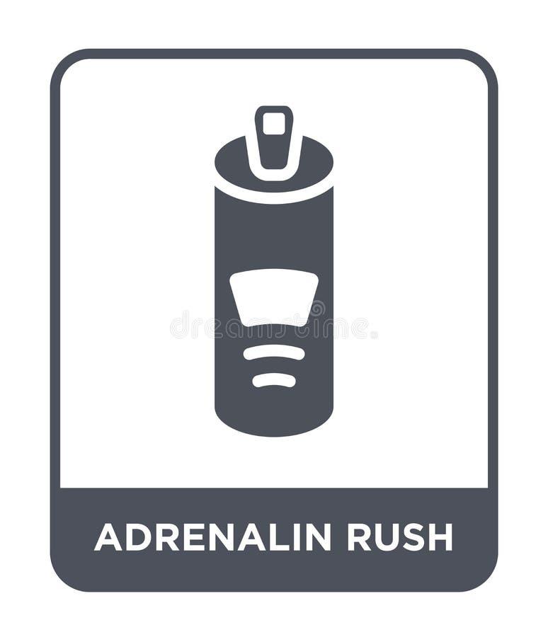 adrenalin rusar symbolen i moderiktig designstil adrenalin rusar symbolen som isoleras på vit bakgrund adrenalin rusar den enkla  royaltyfri illustrationer