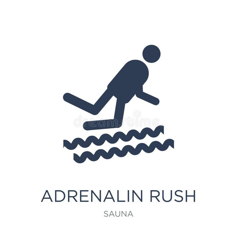 Adrenalin rusar symbolen Moderiktigt plant vektoradrenalin rusar symbolen på w royaltyfri illustrationer