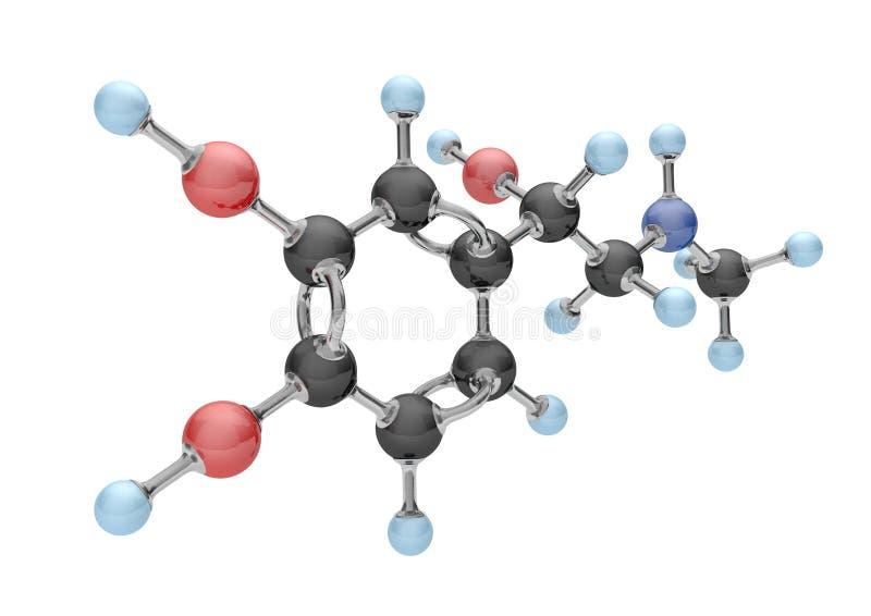 Adrenalina da molécula ilustração royalty free