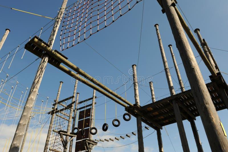 Download Adrenaline park stock image. Image of adventure, wooden - 15529895