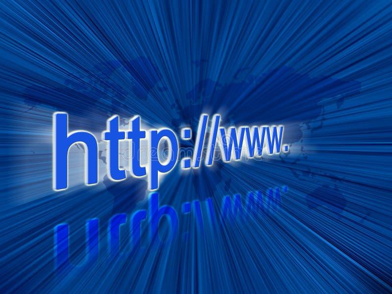 adresów internety ilustracja wektor