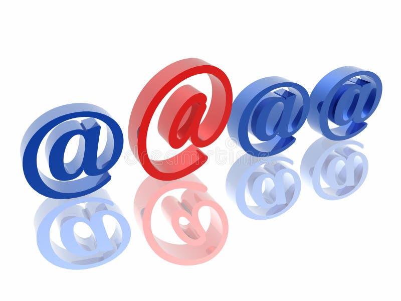 adres e - mail wyjątkowy ilustracja wektor