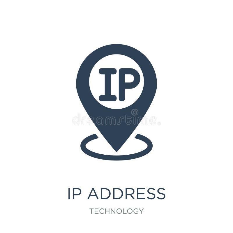 adres ip punktu locator ikona w modnym projekta stylu adres ip punktu locator ikona odizolowywająca na białym tle adres ip punkt ilustracja wektor