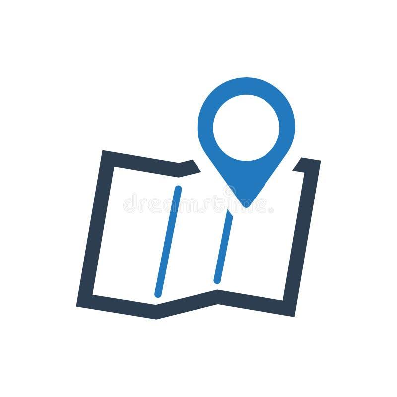 Adres lokaci ikona ilustracji
