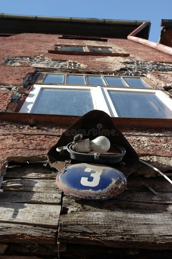 adres starzał się domu talerza zdjęcie stock