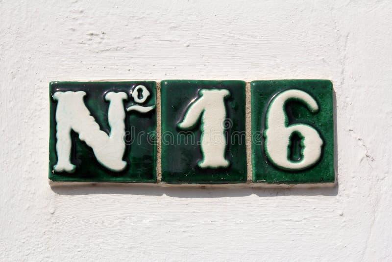 Adres ulica liczba 16 zdjęcie stock