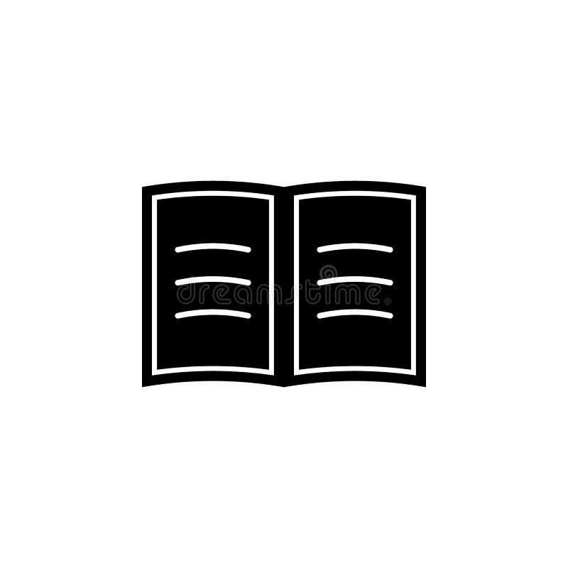 Adresboek, referentiepictogram De tekens en de symbolen kunnen voor Web, embleem, mobiele toepassing, UI, UX worden gebruikt vector illustratie