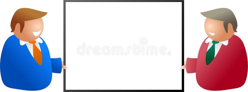 Adreskaartje stock illustratie
