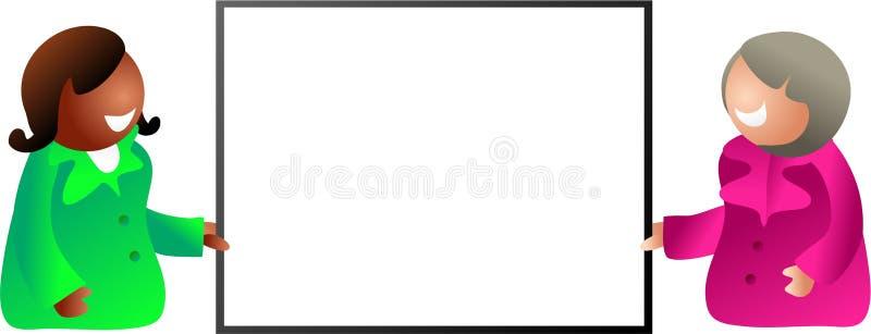 Adreskaartje royalty-vrije illustratie