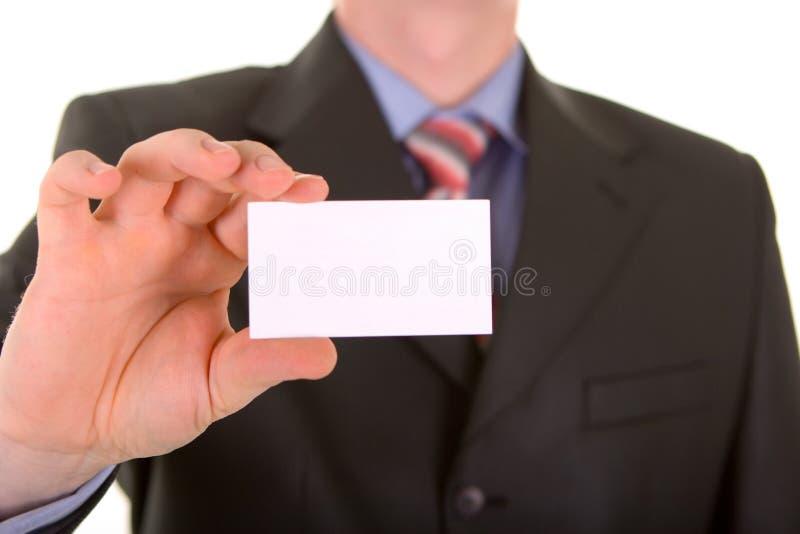 Adreskaartje in een hand royalty-vrije stock foto's