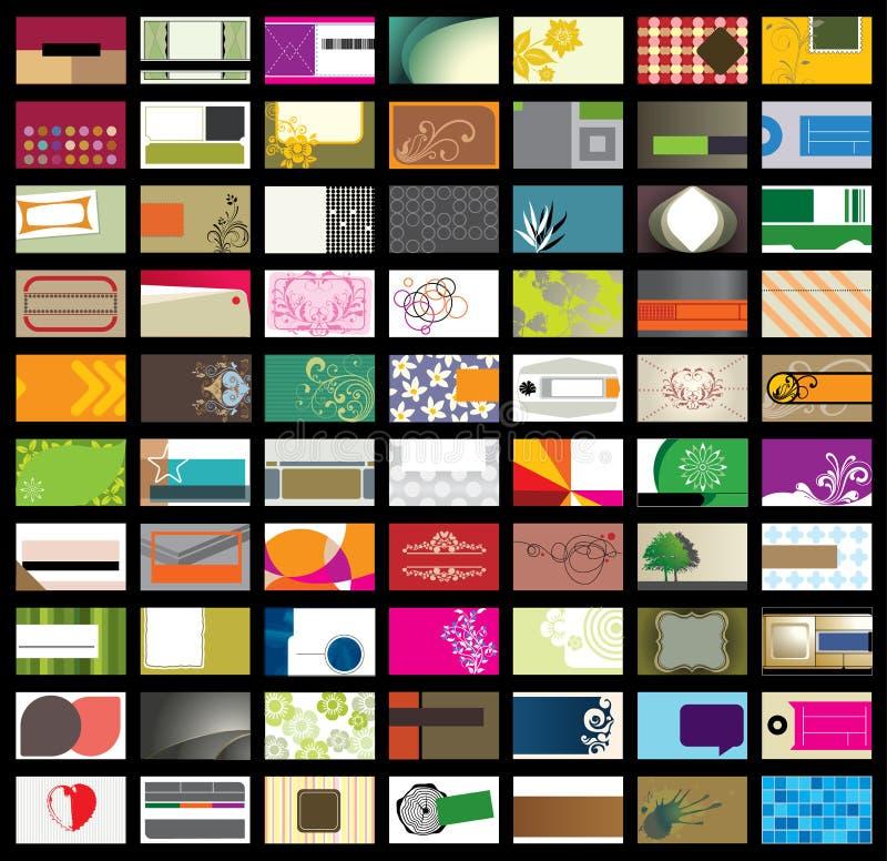 Adreskaartje malplaatje-Set2 stock illustratie