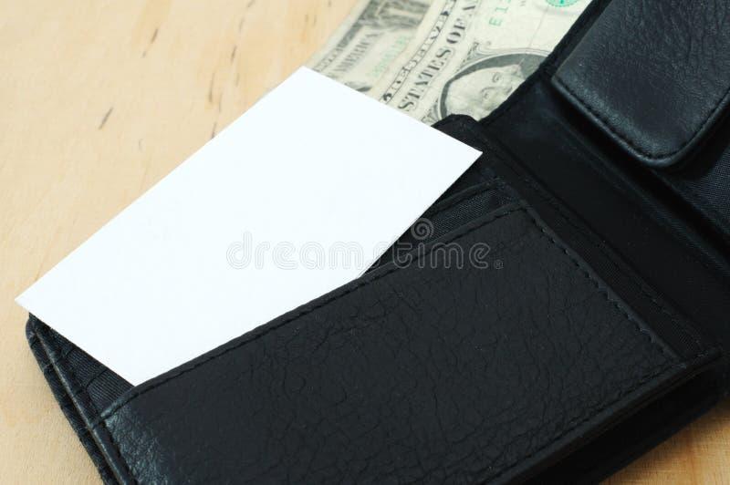 Adreskaartje in portefeuille 8 royalty-vrije stock foto