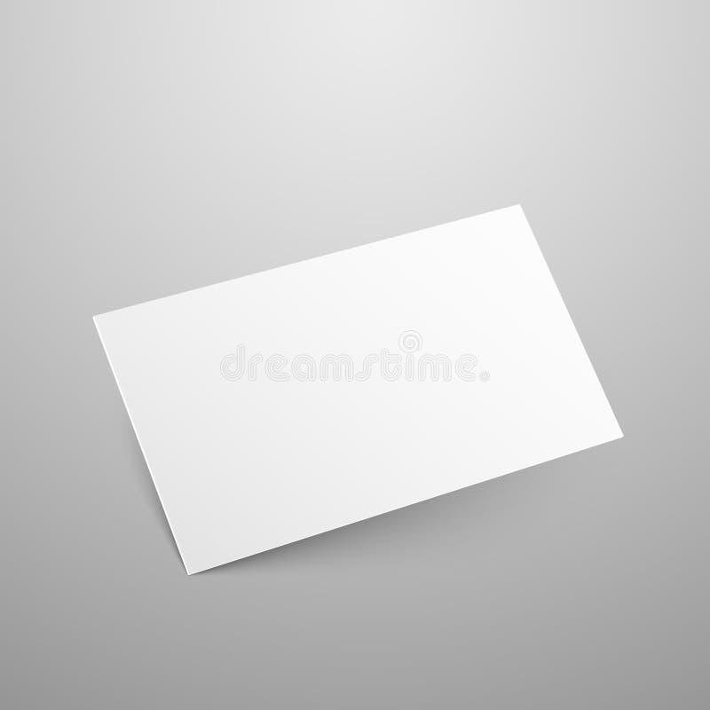Adreskaartje vectormodel royalty-vrije illustratie