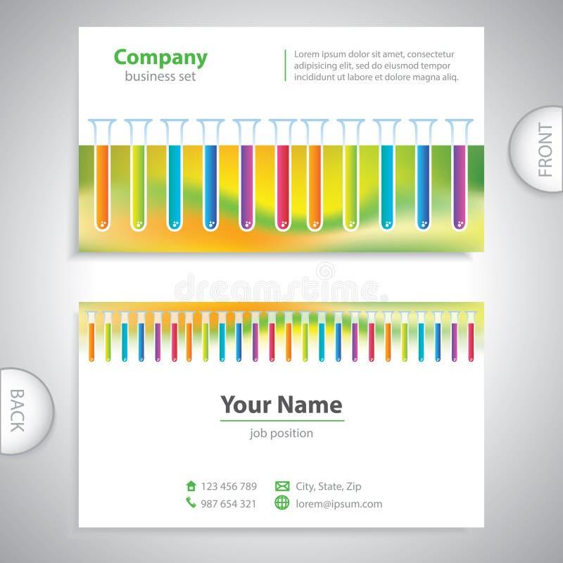 Adreskaartje - wetenschap en onderzoek - laboratoriumonderzoek stock illustratie