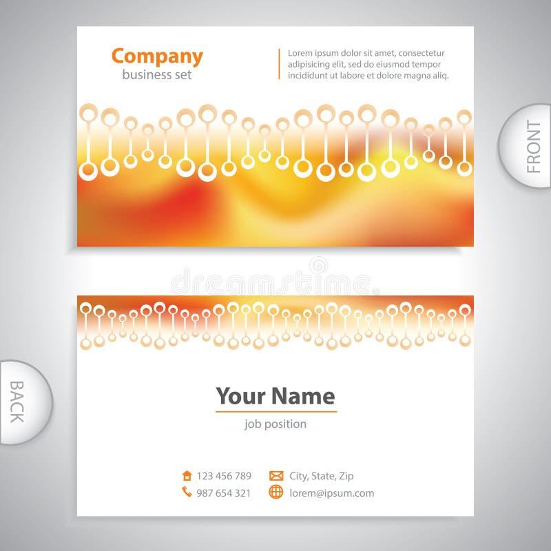 Adreskaartje - wetenschap en onderzoek - moleculaire structuur royalty-vrije illustratie