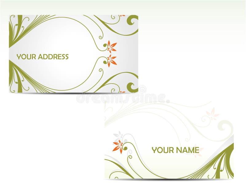 Adreskaartjes vector illustratie