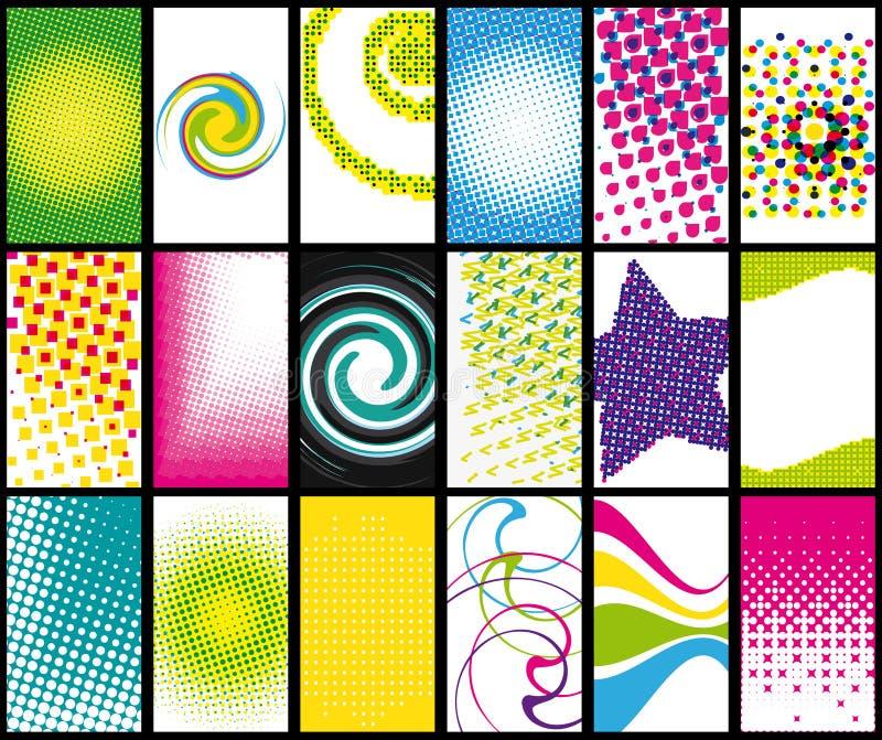 Adreskaartjes. vector illustratie