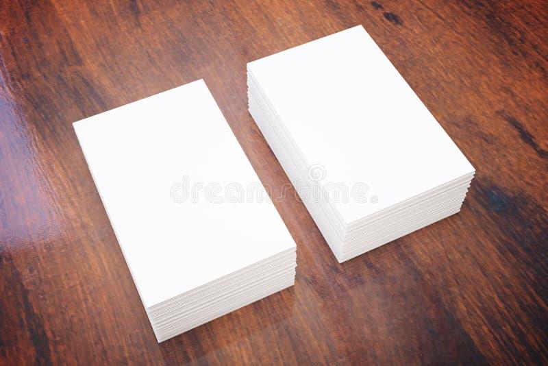 Adreskaartjes op donker hout royalty-vrije illustratie
