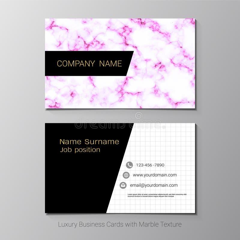 Adreskaartjes vectormalplaatje stock illustratie