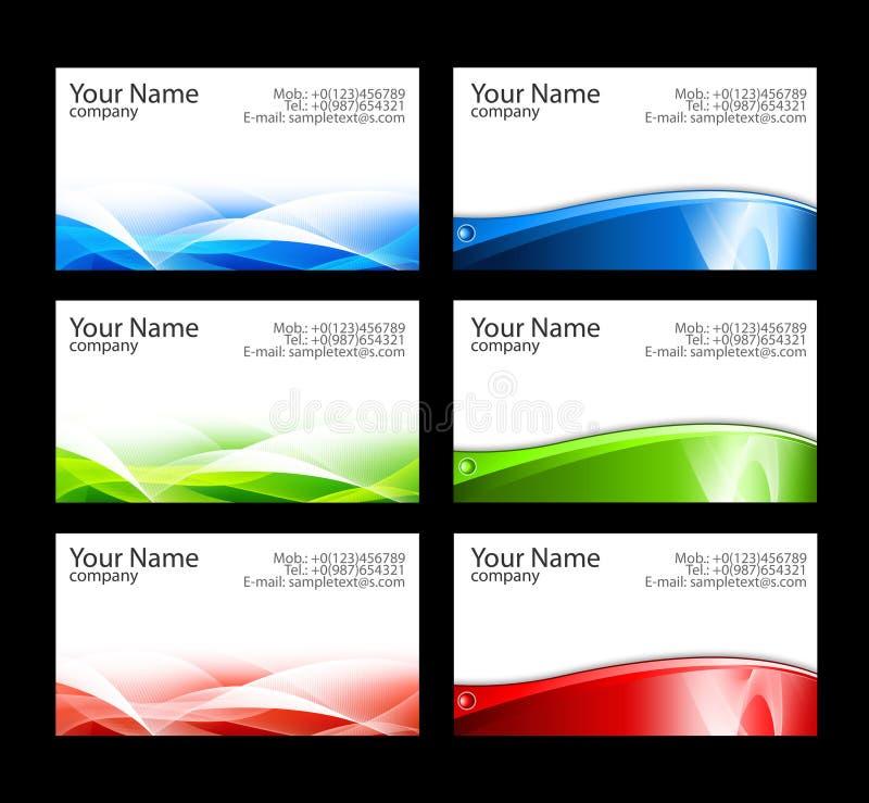 Adreskaartjesmalplaatjes royalty-vrije illustratie