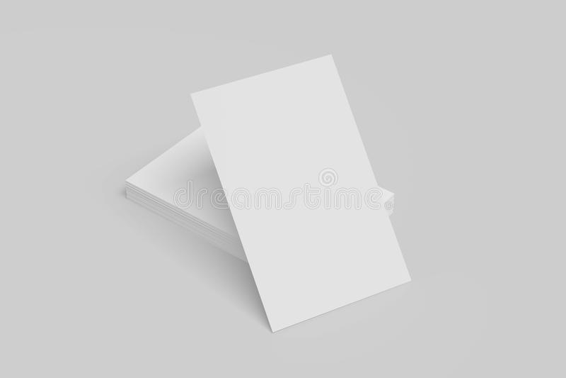 Adreskaartjespot omhoog op witte achtergrond geïllustreerd 3D vector illustratie