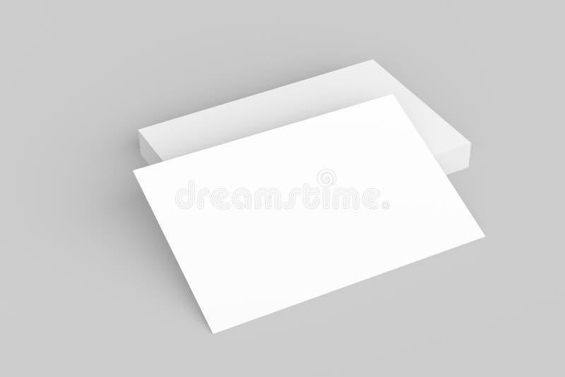 Adreskaartjespot omhoog op witte achtergrond geïllustreerd 3D stock illustratie