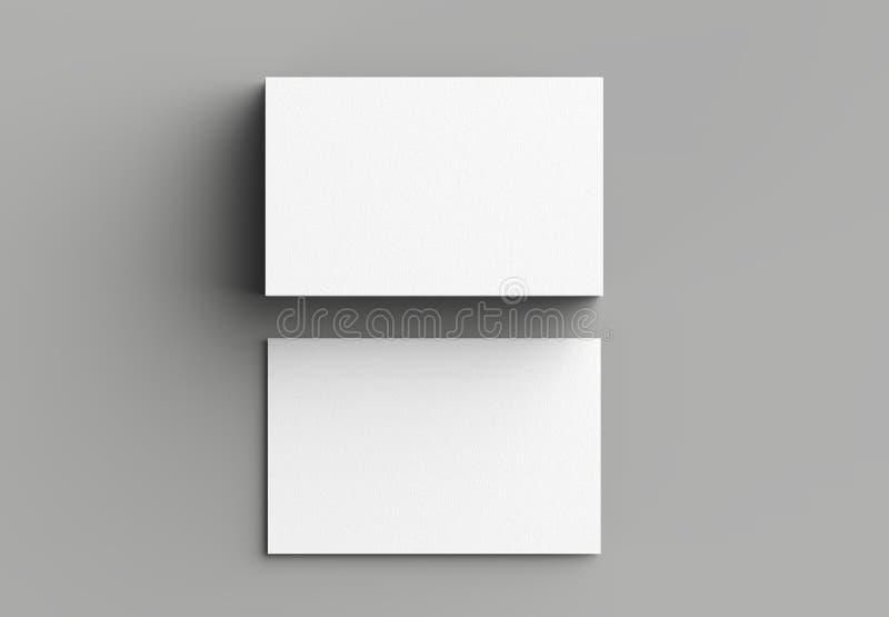 Adreskaartjespot op grijze achtergrond omhoog wordt geïsoleerd die horizontaal 3 royalty-vrije illustratie