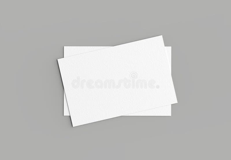 Adreskaartjespot op grijze achtergrond omhoog wordt geïsoleerd die horizontaal 3 vector illustratie
