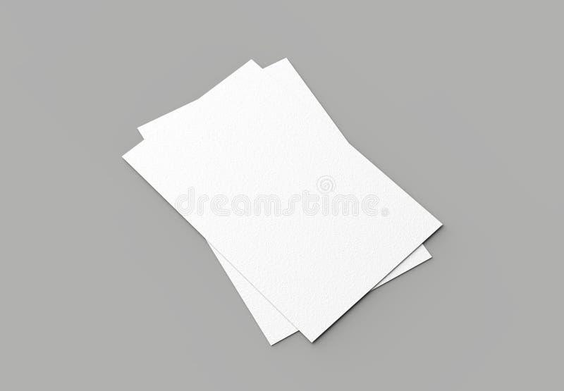 Adreskaartjespot op grijze achtergrond omhoog wordt geïsoleerd die verticaal 3d stock illustratie
