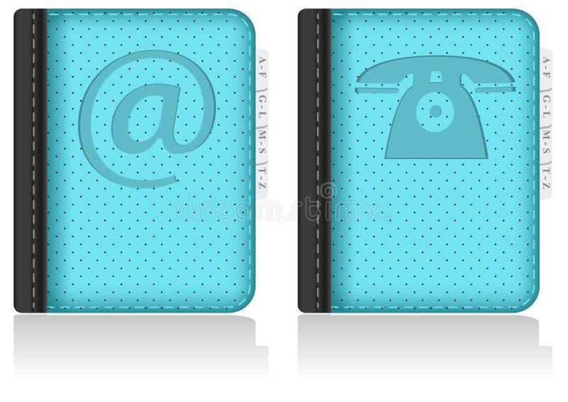 Adressbook, cahier, annuaire téléphonique. Vecteur. illustration stock