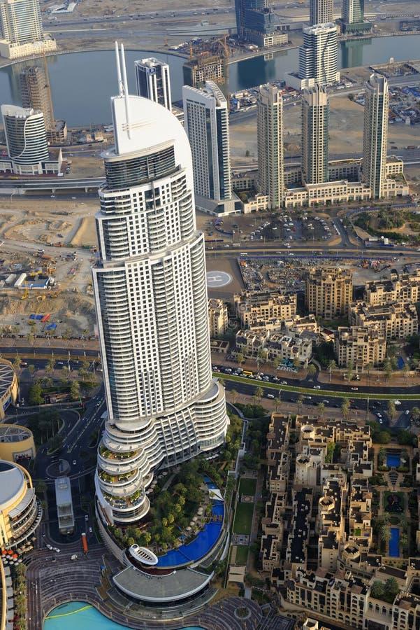 Adressen i stadens centrum Dubai royaltyfri foto