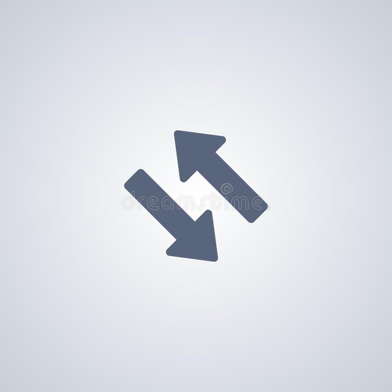 Adressieren Sie, Feedback um, vector beste flache Ikone lizenzfreie abbildung