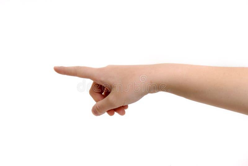 adresu palca ręki osoby twierdzić zdjęcia royalty free