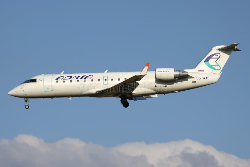 Adria Airways Bombardier CRJ200 image stock
