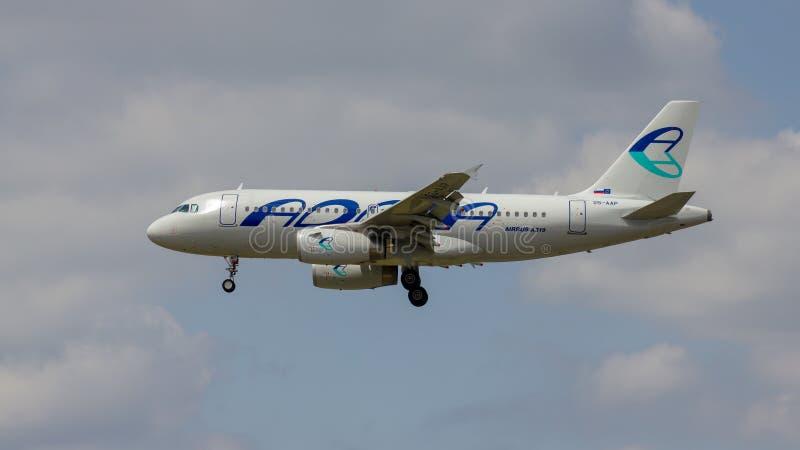 Adria Airways Slovenia Airbus A319 stock afbeelding