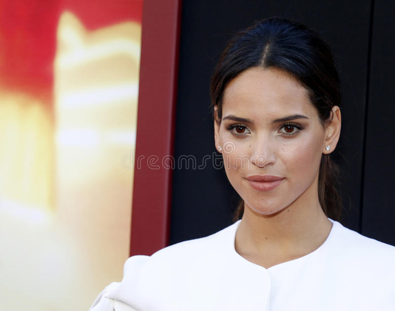 Adria Arjona. At the Los Angeles premiere of `The House` held at the TCL Chinese Theatre in Hollywood, USA on June 26, 2017 stock photo