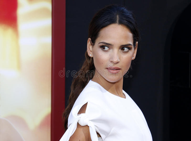 Adria Arjona. At the Los Angeles premiere of `The House` held at the TCL Chinese Theatre in Hollywood, USA on June 26, 2017 royalty free stock photos