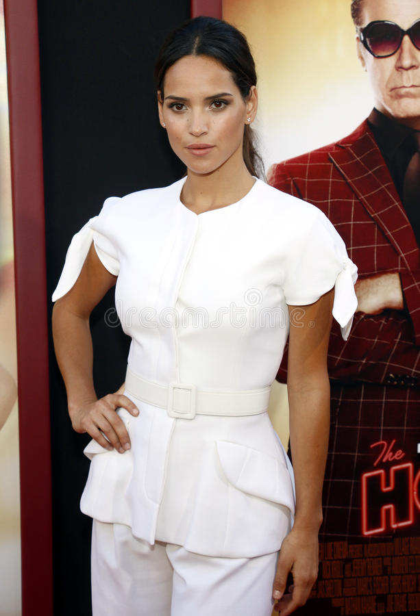 Adria Arjona. At the Los Angeles premiere of `The House` held at the TCL Chinese Theatre in Hollywood, USA on June 26, 2017 royalty free stock photo