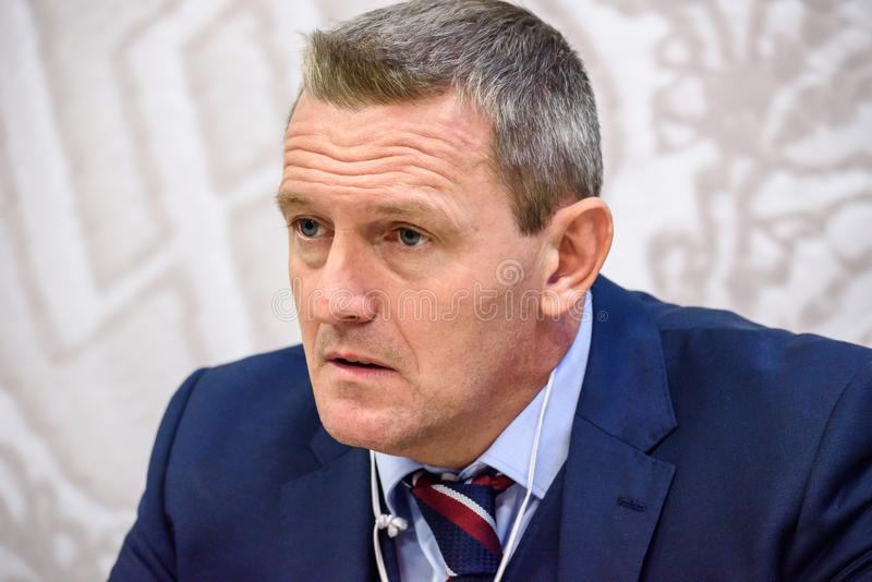 Adrian Boothroyd, primo allenatore U-21 del gruppo Inghilterra fotografia stock
