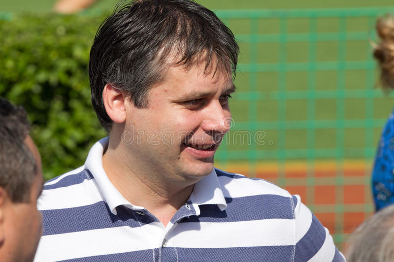 Adrian Crit. Former director of urban transport, was made ​​head over all public transport in Bucharest stock images