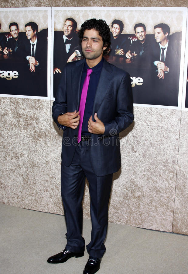 Adrian Grenier. At the HBO`s Official Premiere of `Entourage` Season 6 held at the Paramount Pictures Studios in Hollywood, California, United States on July 9 royalty free stock image
