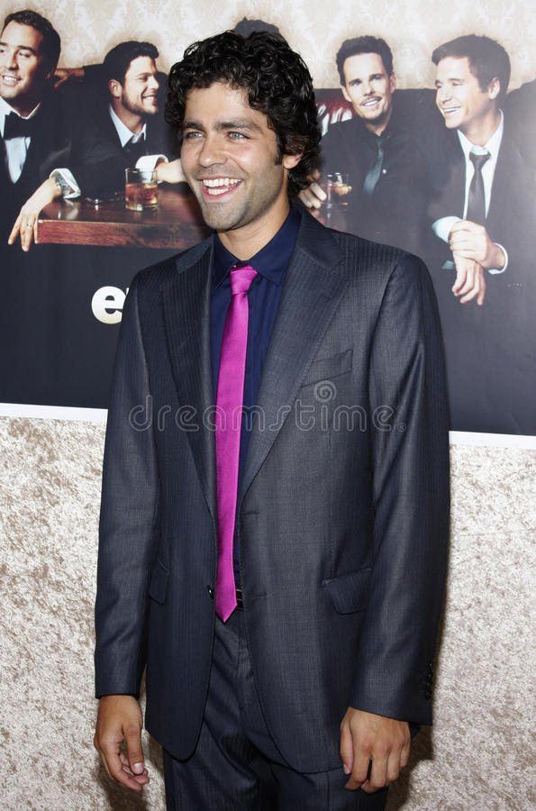 Adrian Grenier. At the HBO`s Official Premiere of `Entourage` Season 6 held at the Paramount Pictures Studios in Hollywood, California, United States on July 9 stock photos