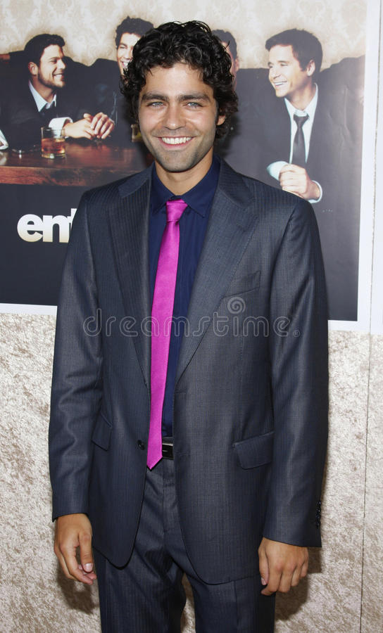 Adrian Grenier. 9/7/2009 - Hollywood - Adrian Grenier at the HBO`s Official Premiere of `Entourage` Season 6 held at the Paramount Pictures Studios in Hollywood royalty free stock image