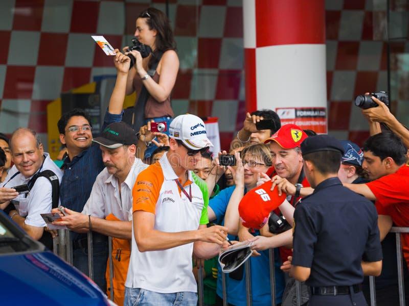 Adrian Sutil (force Inde d'équipe) photographie stock