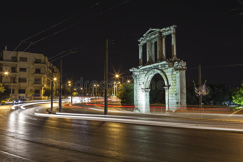 Download Adrianou Gate stock image. Image of attraction, corinthian - 26568865