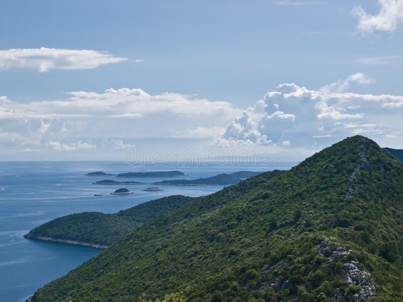 adriatic öar royaltyfria foton