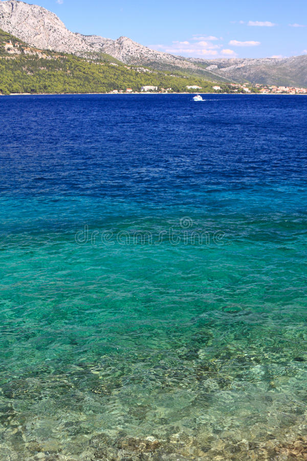 Adriatic - Clear sea stock image